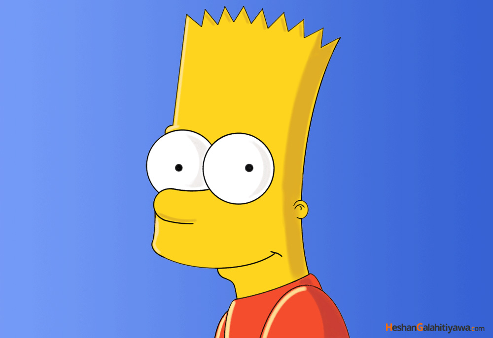 Bart Simpson Drawing by Heshan