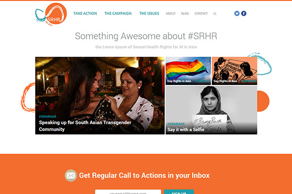 Frontend UI development for #SRHR4ALL